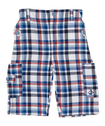 Blue Plaid Shorts - Infant, Toddler & Boys