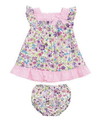 Pink Meadow Dress & Diaper Cover - Infant