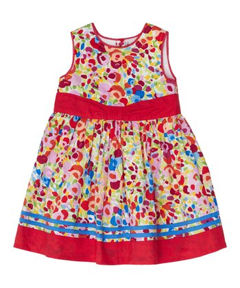 Red Blossom Dress - Infant, Toddler & Girls