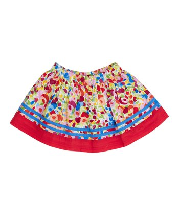 Red Blossom Skirt - Infant, Toddler & Girls
