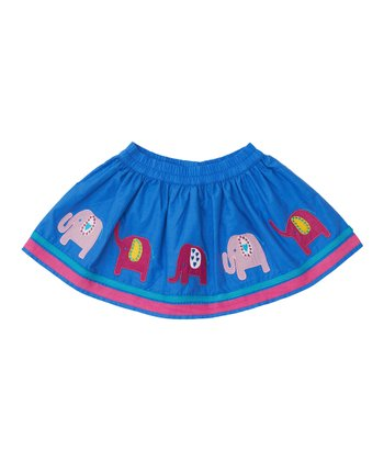 Cornflower Elephant Skirt - Infant, Toddler & Girls