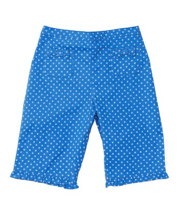 Blue Floral Capri Pants - Toddler & Girls