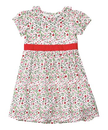 White Ditsy Floral Party Dress - Infant, Toddler & Girls