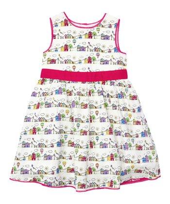 Cream Summer Day Party Dress - Infant, Toddler & Girls