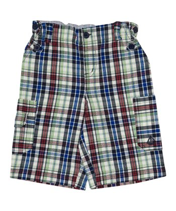 Navy Plaid Shorts - Infant, Toddler & Boys