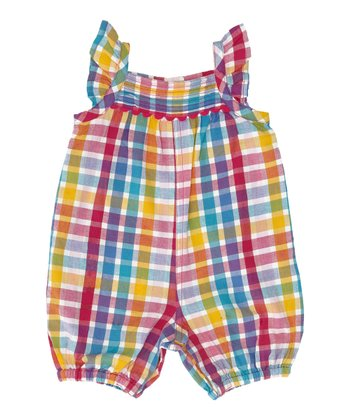 Rainbow Plaid Romper - Infant