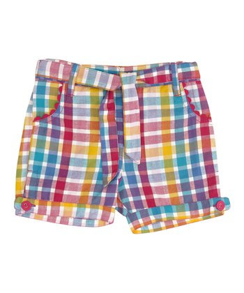 Rainbow Plaid Shorts - Infant, Toddler & Girls