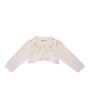 Cream Embroidered Bolero - Infant, Toddler & Girls