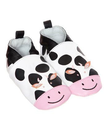 White Cow Leather Booties