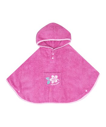 Orchid Terry Cloth Poncho - Infant, Toddler & Girls