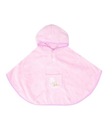 Pink Terry Cloth Poncho - Infant, Toddler & Girls