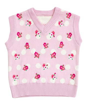 Pink Rose Embroidered Vest - Infant, Toddler & Girls