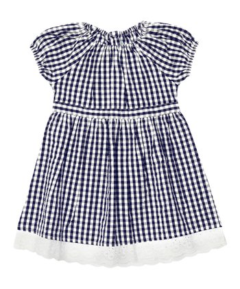 Navy Gingham Dress - Infant, Toddler & Girls