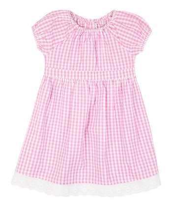 Pink Gingham Dress - Infant, Toddler & Girls