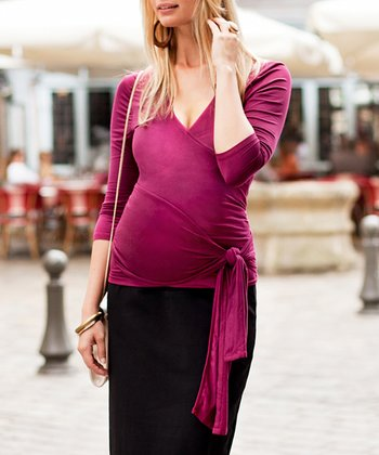 Beaujolais Maternity Wrap Top