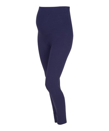 Navy Over-Belly Maternity Leggings
