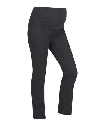 Black Over-Belly Maternity Jeggings