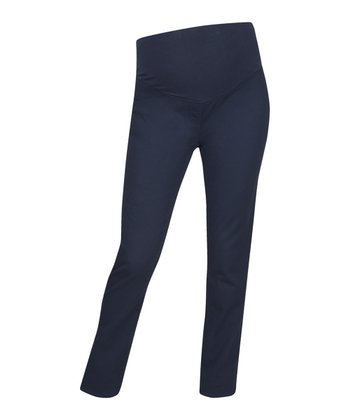 Navy over-Belly Maternity Jeggings
