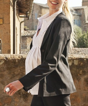 Black Maternity Jacket