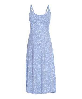 Blue Floral Maternity & Nursing Nightgown