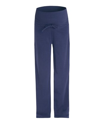 Navy Over-Belly Maternity Pajama Pants