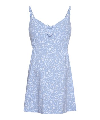 Blue Floral Maternity & Nursing Sleep Camisole