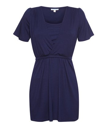 Navy Nursing Surplice Top