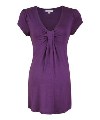 Grape Gathered Maternity Top