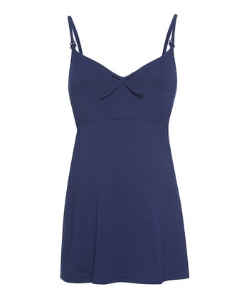 Navy Maternity & Nursing Sleep Camisole