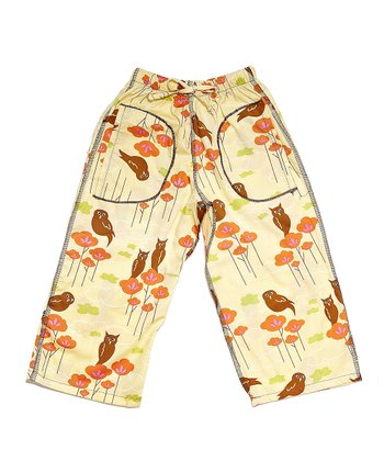 Yellow Owl Pants - Infant & Toddler