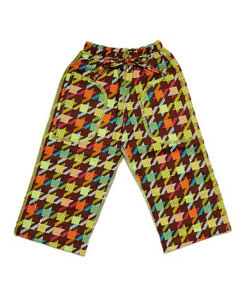 Brown Zigzag Pants - Infant, Toddler & Boys