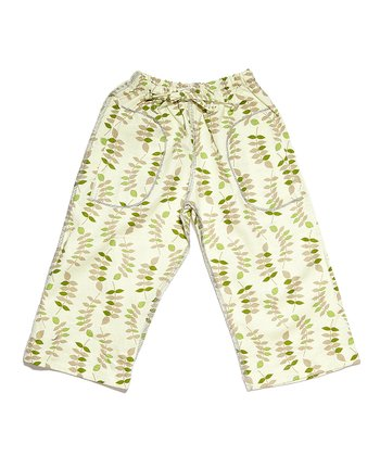 Green Leaves Linen Pants - Infant & Toddler