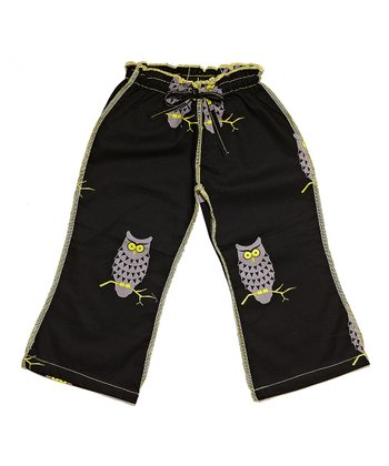 Black Owl Ceca Pants - Toddler