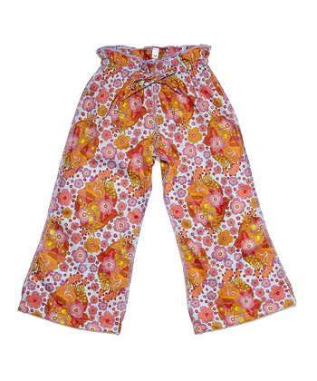 Light Blue Floral Ceca Pants - Infant, Toddler & Girls