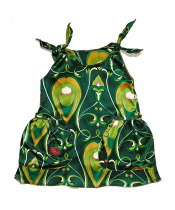 Emerald Green Blossom Silk Dress - Infant, Toddler & Girls