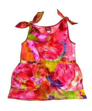 Pink Fusion Silk Dress - Infant, Toddler & Girls