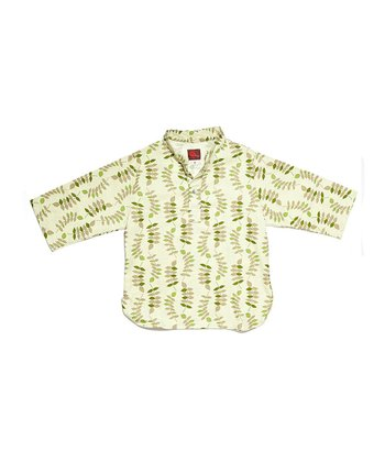 Green Leaves Linen Shirt - Infant, Toddler & Boys