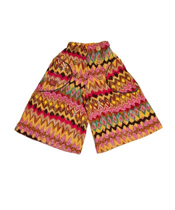 Orange Aztec Silk-Blend Palazzo Pants - Toddler & Girls