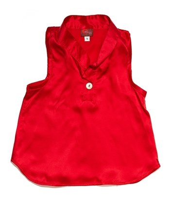 Red Silk Racerback Tank - Infant & Toddler