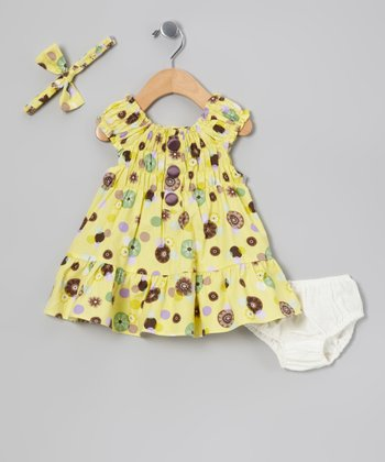 Yellow Spot Dress Set - Infant & Toddler