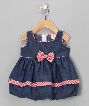 Blue & Pink Bubble Dress - Infant & Toddler