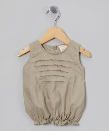 Khaki Bubble Top - Infant, Toddler & Girls