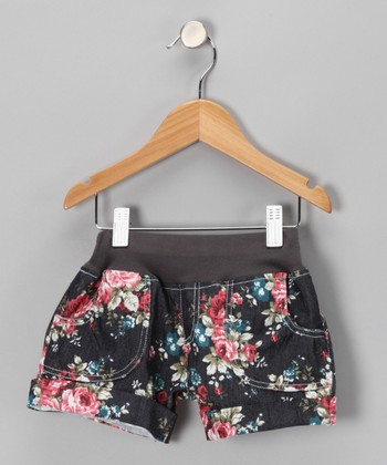 Pink Floral Denim Shorts - Infant, Toddler & Girls