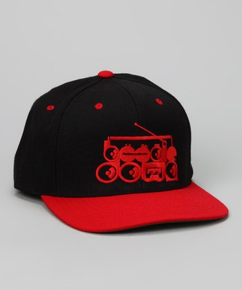 Black & Red 'Boogie Down' Baseball Cap