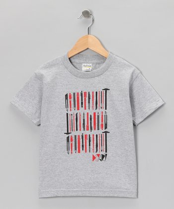 Heather Gray DIY Art Tee - Toddler & Boys