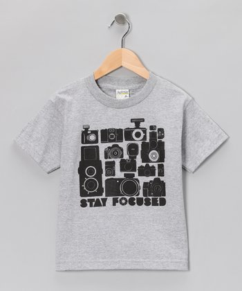 Heather Gray 'Stay Focused' Tee - Toddler & Boys