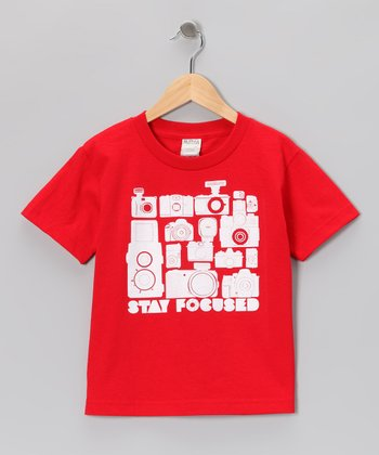 Red 'Stay Focused' Tee - Toddler & Boys