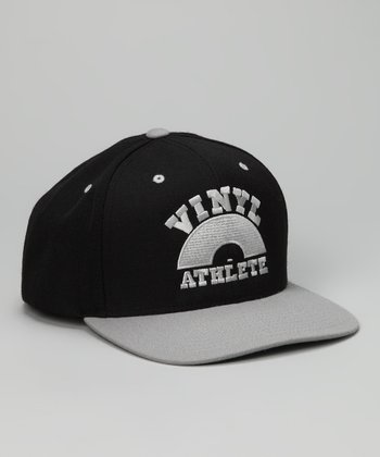 Black & Silver 'Vinyl Athlete' Baseball Cap