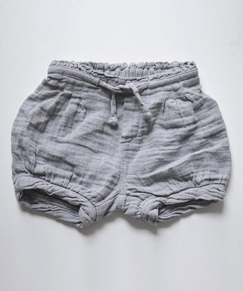 Gray Stripe Muslin Shorts
