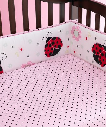 Pretty in Pink Crib Sheet